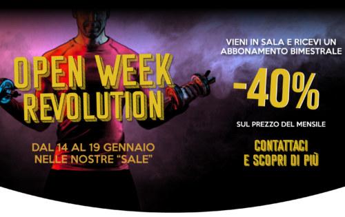 Open Week Revolution (dal 14 al 19 gennaio)