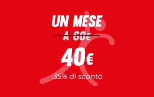 Un mese a 40€!